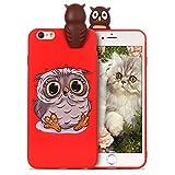 RosyHeart Coque Apple iphone6 Plus Silicone iphone6S + Souple Gel TPU Etui 3D Mignon Design Flexible Soft Backcover Anti Choc Housse de Protection pour iphone6S Plus,Twitter Owl