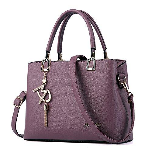 Fashion Ocean Handtasche Frauen atmosphärischen Schulter Crossbody Bag Deep Purple