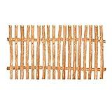 Zaunelement Haselnuss • 90 Größen • 90 x 90 cm (5-6 cm) • Staketenzaun Bausatz für Lattenzaun / Bretterzaun aus Haselnuss inkl. Querriegel, Zaunlatten und Schrauben