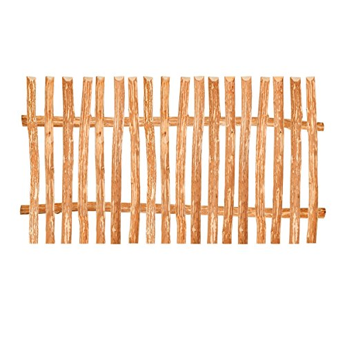 BooGardi Zaunelement Haselnuss • 90 Größen • 90 x 200 cm (5-6 cm) • Staketenzaun Bausatz für Lattenzaun/Bretterzaun aus Haselnuss inkl. Querriegel, Zaunlatten und Schrauben