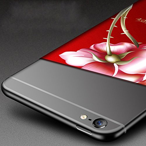 iPhone 8 Hülle,iPhone 7 Hülle, Vandot iPhone 8/7 4.7 Zoll Hülle TPU Case Schutzhülle Silikon Crystal Case Durchsichtig,Glänzend Glitzer Kristall Mädchen Fee TPU Silikon Schutz Handy Hülle Case Tasche  Rot 2
