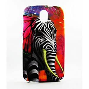 AVC Graphik Zelephant Soft TPU Back Case Cover for HTC Desire 526 Mobile Cell Phone (Multicolor)