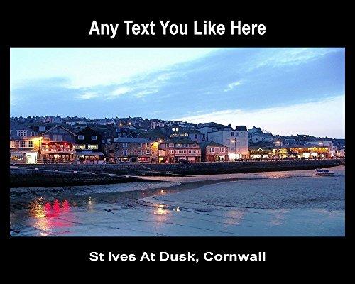 st-ives-at-dusk-cornwall-uk-personalised-mousemat