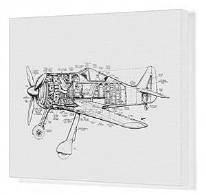 Impression sur toile de dessin Focke Wulf FW190Pan coupé