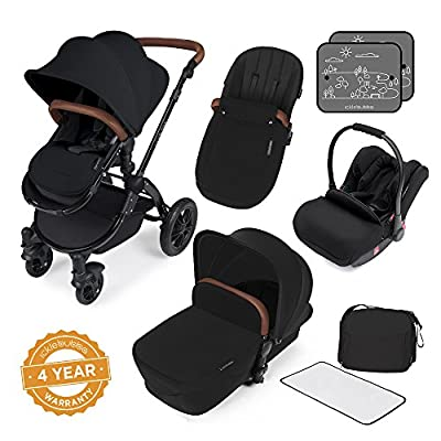 Ickle Bubba Stomp V3 All In One Travel System, Black on Black Chassis