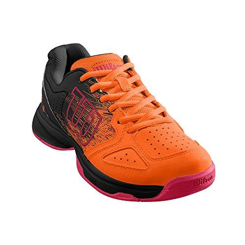 Wilson Unisex-Kinder Stroke Jr Tennisschuhe, Orange/Schwarz (Shocking Orange/Black/Neon Red), 38 1/3 EU