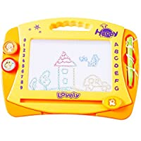 Smibie Magnetic Drawing Board Colorful Doodle Large Size Erasable Writing Board Educational Toy for Baby Kids 4 Colors Zones