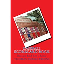 Baseball Scorecard Book: Boston Red Sox Theme