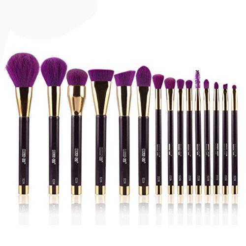 kingko® 15PCS / set brosse cosmétiques pinceau de maquillage Pinceau fard à paupières