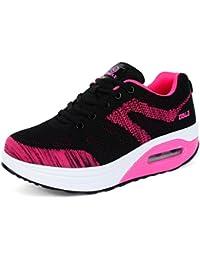 79289e04135d Damen Sneaker Luftkissen Aufzug Rutschfest Sportschuhe Bequem Abriebfest  Mehrfarbrig Freizeit Elegant Outdoor Schuhe