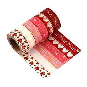 [Washi Tape–Set di 6]–Molto Chic maggio Landa Masking Tape Nastro adesivo Nastro, multicolore, 6er Set