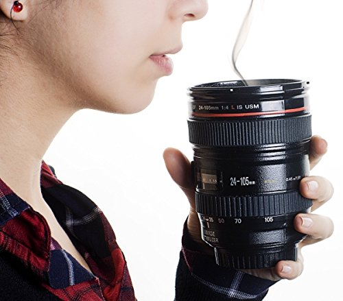 Panzl High Quality Latest Camera Lens Mug,Stainless Steel Travel Thermos Camera Lens Coffee Tea Cup Mug Coffee Cup