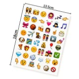 NOVSIX 16 Pack Emoji Aufkleber Set,...