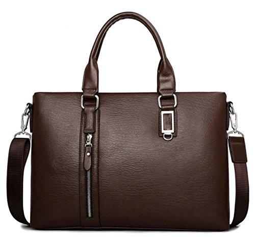 Uomini Borsa Degli Uomini Borsa A Tracolla Borsa A Tracolla Messenger Bag Uomini Uomo D'affari Valigetta Borsa Borsa Messenger Bag Brown