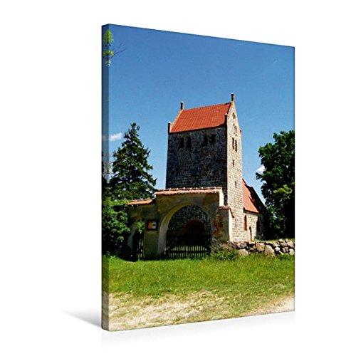 Premium Textil-Leinwand 50 cm x 75 cm hoch, Wehrkirche in Mechow | Wandbild, Bild auf Keilrahmen, Fertigbild auf echter Leinwand, Leinwanddruck (CALVENDO Orte)