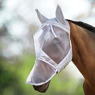 Harrison Howard CareMaster Fly Mask Full Face Moonlight Silver (S; Pony) 13