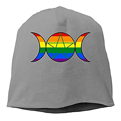 XCarmen Gay Pride Demisexual Pansexual Winter Warm Knit Cap Beanie Hat DeepHeather