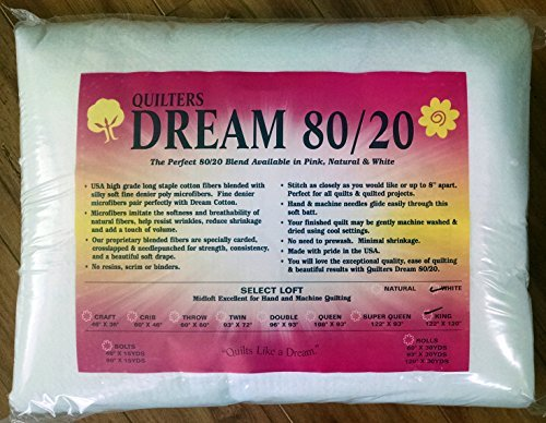 Unbekannt Quilter's Dream 80/20 White Select Loft Batting King-Size-Größe 125,1 x 304,8 cm