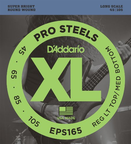 D'Addario EPS165 Set Corde Basso Prosteel