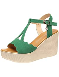 Amazon.fr   Compensées - Sandales   Chaussures femme   Chaussures et ... 534c1ec24a58