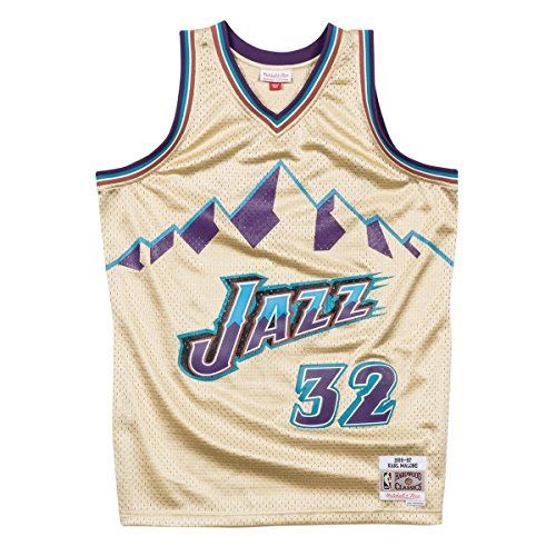 Classic-trikot (Mitchell & Ness Swingman Utah Jazz Karl Malone 32 Gold L)