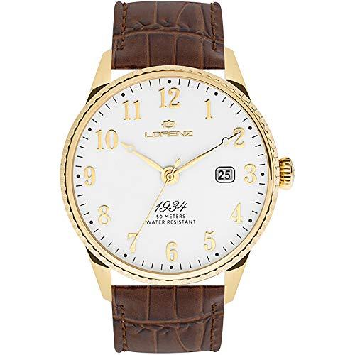 orologio solo tempo uomo Lorenz 1934 trendy cod. 030102DD
