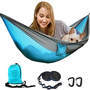 h ngematte tohayie doppelt camping hammock h ngematte drau en outdoor portable. Black Bedroom Furniture Sets. Home Design Ideas