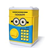 #10: ATM PIGGY BANK for kids (Mini Piggy Bank | Safe Box Money Coin Atm Bank | Toy Atm Machine for Kids Gift Money Box Digital Saving Boxes) Minion by A S Collection