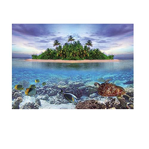 Homyl Aquarium Hintergrund Selbstklebend Fotorückwand - Insel, XL
