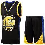DERTL para los fanáticos de # 30 Stephen Curry Golden State Warriors Baloncesto Jersey Niños Adolescentes Adultos Ropa Deport