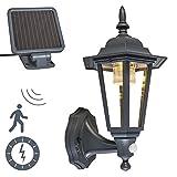 QAZQA Klassisch/Antik/Landhaus/Vintage/Rustikal Solar und Sensor/Bewegungsmelder/Sensor/Bewegungsmelder/IR LED Außenleuchte/Wandleuchte fur Außen/Gartenlampe/Gartenleuchte New Yor