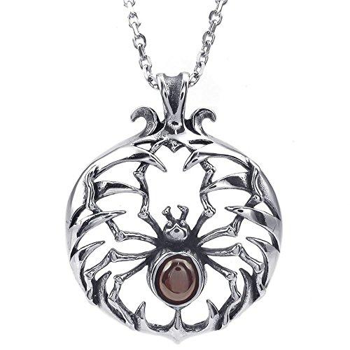 konov-gioielli-collana-con-pendente-croce-da-uomo-ciondolo-gotico-ragno-spider-cristallo-acciaio-ino