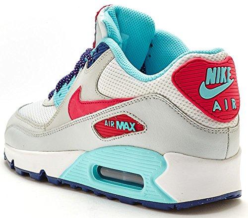 Nike Air Max 90Mesh (GS) Chaussures de sport pour enfants, jeunes filles Gris - Weiß / Rosa lebt