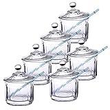 Rastal 6er-Set Berliner Klauengläser mit Deckel | Original Markenglas | Used-Look | 1000 ml | Barock-Schliff | Renaissance-Zeit | Schatzkammer-Fund | Cocktails