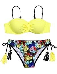 Traje De Baño De Mujer, RETUROM Ropa Traje de Baño Dos Piezas con Lazo de Arena de Bandage Verano Swimwear Mujer,Traje de…