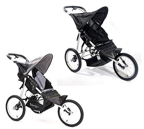 Jogger Buggy S10 Kinderwagen Sportwagen Stroller Babywagen Kids Luftreifen Grau