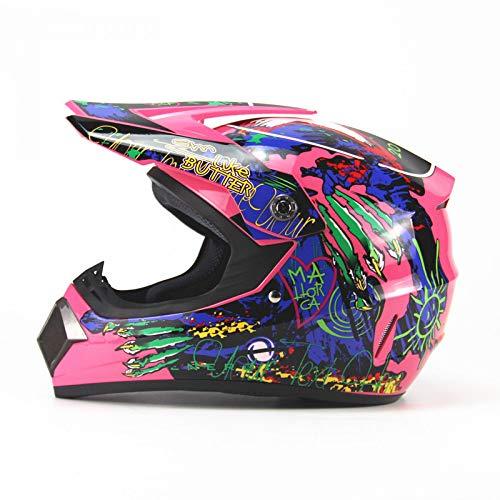 Preisvergleich Produktbild LOLIVEVE Persönlichkeit Vier Jahreszeiten Motocross Helme Männer Und Frauen Batterie Auto Helm Mountainbike Voller Helm Dh Downhill Pirates Bone