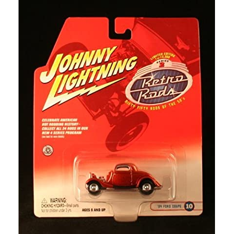 '34 FORD COUPE #10 * ORANGE * 2002 Johnny Lightning RETRO RODS Series 2 Limited Edition Die Cast Vehicle * 1 of only 15,000 * by Johnny Lightning