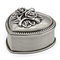 AVESON Classic Vintage Heart Shape Metal Jewelry Box Ring Trinket Storage Organizer Chest