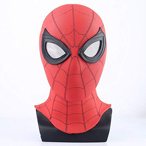 K-Y YK Red Spider-Man Mask 2019 Far from Mask Headgear Cosplay Halloween Mask Helmet Props Movies PVC Adult Dress Up Movie Character (red)