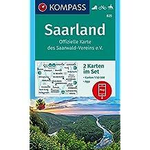 Saarland, Offizielle Karte des Saarwald-Vereins e.V.: 2 Wanderkarten 1:50000 im Set inklusive Karte zur offline Verwendung in der KOMPASS-App. Fahrradfahren. Reiten. (KOMPASS-Wanderkarten, Band 825)