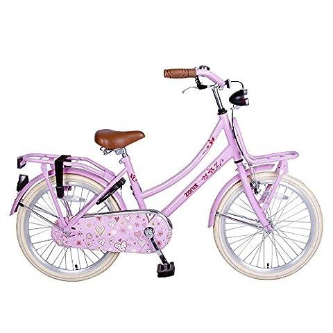 Vélo Fille Zonix Oma 20 Pouces Frein à Rétropédalage Rose 85% Assemblé