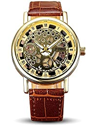 S & D Watch Quartz For Men Open Brown Mens Brown Leather Belt Wrist Watch By Yashish | Watches For Mens Stylish...