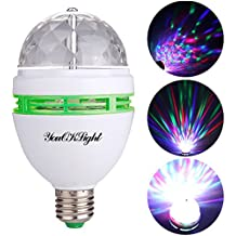 YouOKLight lampadina sfera di cristallo rotante LED 3W E27 RGB