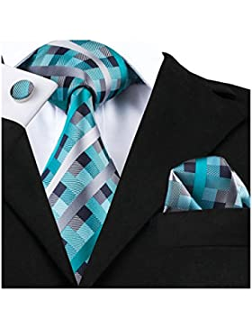 Barry. Wang hombre Check tie Set