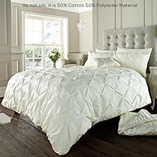 Alford Duvet Cover with Pillowcase Quilt Cover Bedding Set - Cream - Double by GC