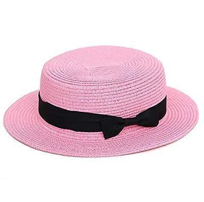 RUIRUI-Abgeflachter Strohhut, Damenhüte, Strand Hüte, jazz Hüte