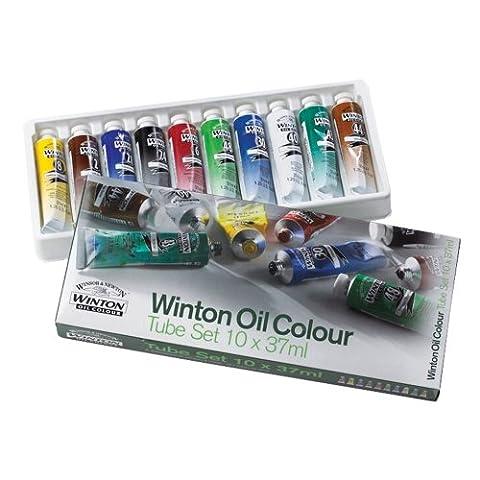 Winsor & Newton Winton Set de 10 tubes Peinture à l'huile fine 37ml