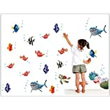 Jaamso Royals ''Fish Cartoon'' Wall Sticker For Baby/Kids (Vinyl, 45 Cm X 5.1 Cm X 5.1 Cm)
