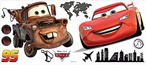 Crearreda 27002 Moderne Sticker Repositionnable Cars Disney Taille L Vinyle Rouge 100 x 45 x 0,05 cm